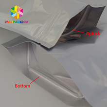 stand up seal blind foil bags with zip top/resealable foil pouches/reusable aluminum foil pouches