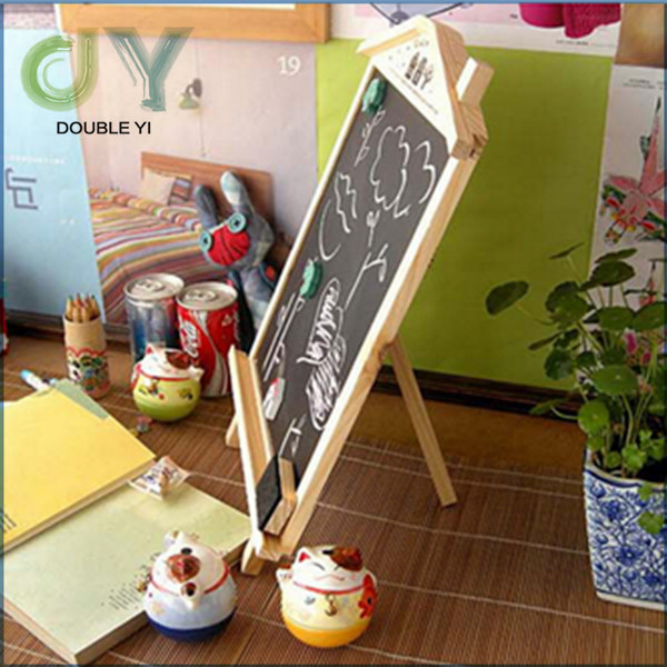 Mini wooden blackboard, multi-function message board with stand