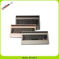 High Quality Fashion 7 color Backlit Dock integrated bluetooth wireless keyboard for Pro iPad