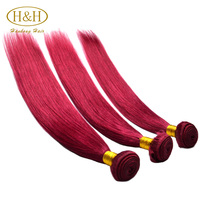 2016 Alibaba 8A grade super quality 100% unprocessed brazilian silky straight remy human hair weft red brazilian hair weave
