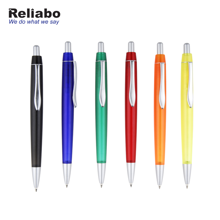 Reliabo China High Quality Plastic Personalized Logo Multi-Color Promotion Gift Ball Pen