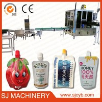 small juice production filling pouch machine / manual spout pouch filling machine