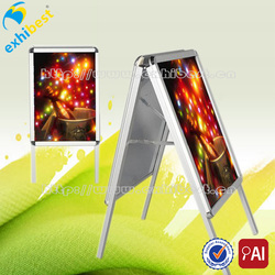 Aluminum advertising street board sidewalk sign poster stand