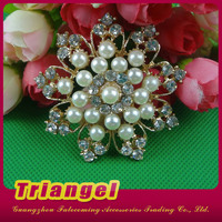 Hot Sale Handmade Rhinestone Decorative Brooch For Wedding Decoration