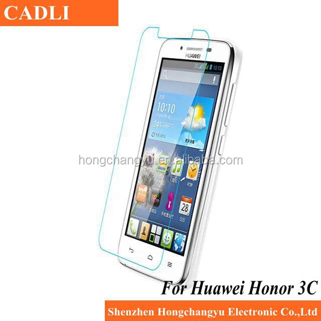 Hot Sale !! High clear 0.33mm 2.5D 9H mobile tempered glass screen protector for Huawei G630/honor 3C