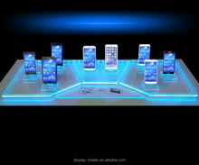 Customised acrylic led light display stand for electronics