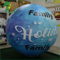 Sky Blue Commercial Sphere Balloons , Inflatable Helium Sphere For Advertising