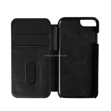 Custom android leather mobile phone case for iphone6s black wallet case