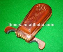 mobile leather billiard cue rack mobile pool cue holder