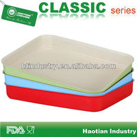 Ceramic coated rectangle grill pan