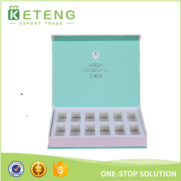 Magnetic closure essential oil gift packaging box for cosmetic bottles
