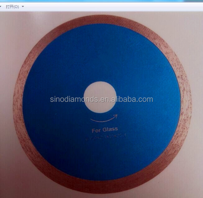 Sintered Continuous rim glass blade