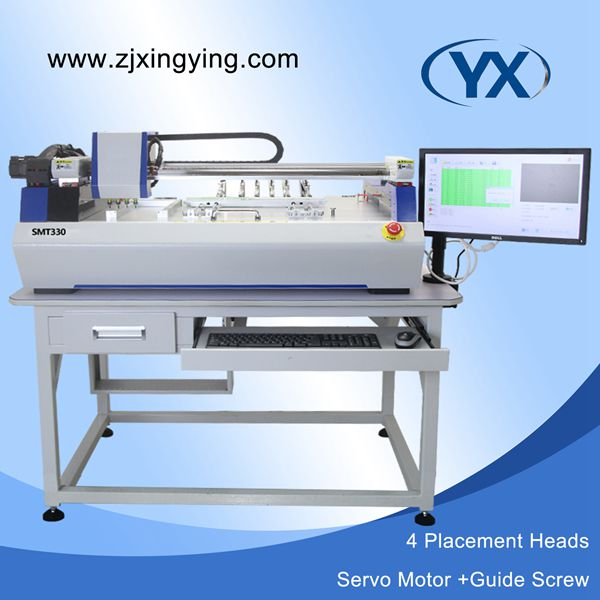 SMT Desktop Pick and Place Machine with servo motor and guide screw which can meet 1200mm LED