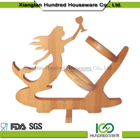 wholesale wooden wine bottle holder