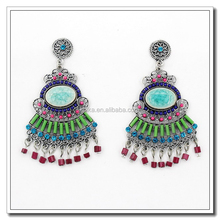 Fashion high quality cheap multicolor zirconia earrings