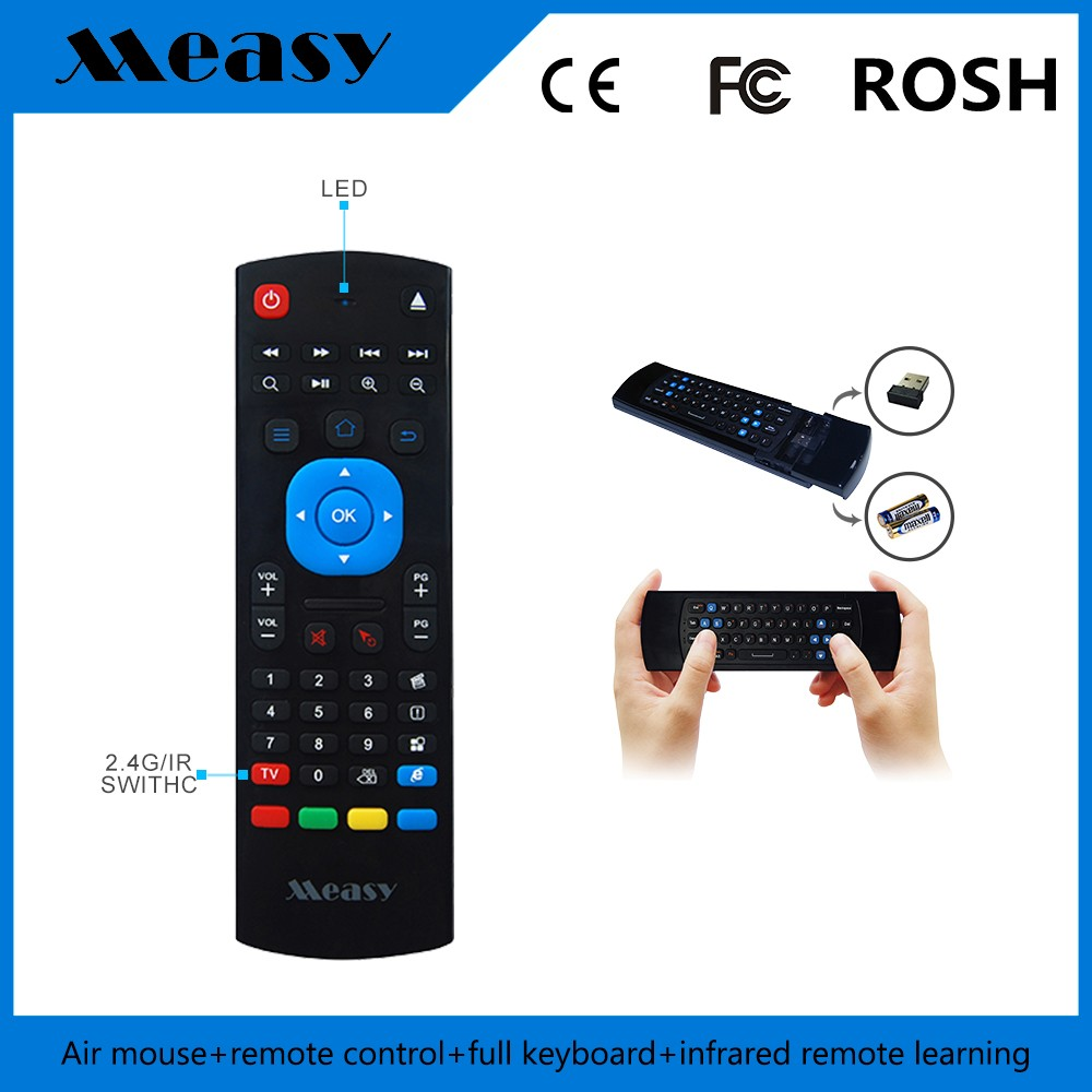 Fly Air Mouse Wireless mele f10 mini keyboard mini air mouse with Gyroscope and G-Sesor air mouse for tv box