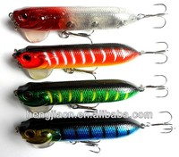 Free Shipping 95mm Popper fishing Lure 9.5CM 18G fishing hooks top water float lure Popper hard hook,plastic japan fishing lure