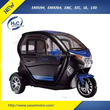 Advanced model 72V/45AH 1KW/2.2KW adult handcapped motorized tricycle with mp3/back up video/warmer