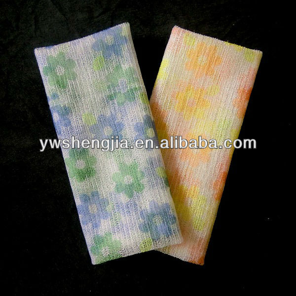 100% nylon printing shower towel/body wash cloth bathing fabric