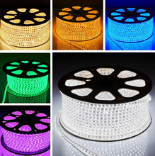 China wholesale led 5050 <strong>rgb</strong> 220v cooper wire flat led strip christmas weeding holliday decorate led flex light made in china