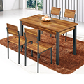 A1128 Dining Room Furniture Modern Wood Dining Table/ Space-saving Dining set