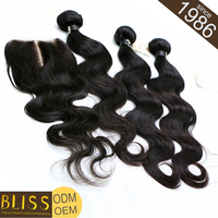 Premium Quality Easy To Dye Purple Color Body Wave Remy Brazilian Hair Weave
