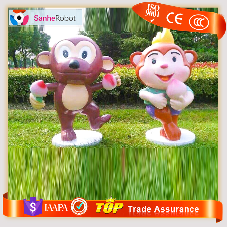 Fiberglass Promotion Sculpture Fiberglass Golden Monkey