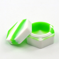 New arrival creative hexagon jar, hexagon plastic container 26ml