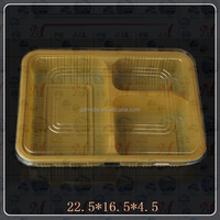 Light weight transparent disposable meal prep compartment food container