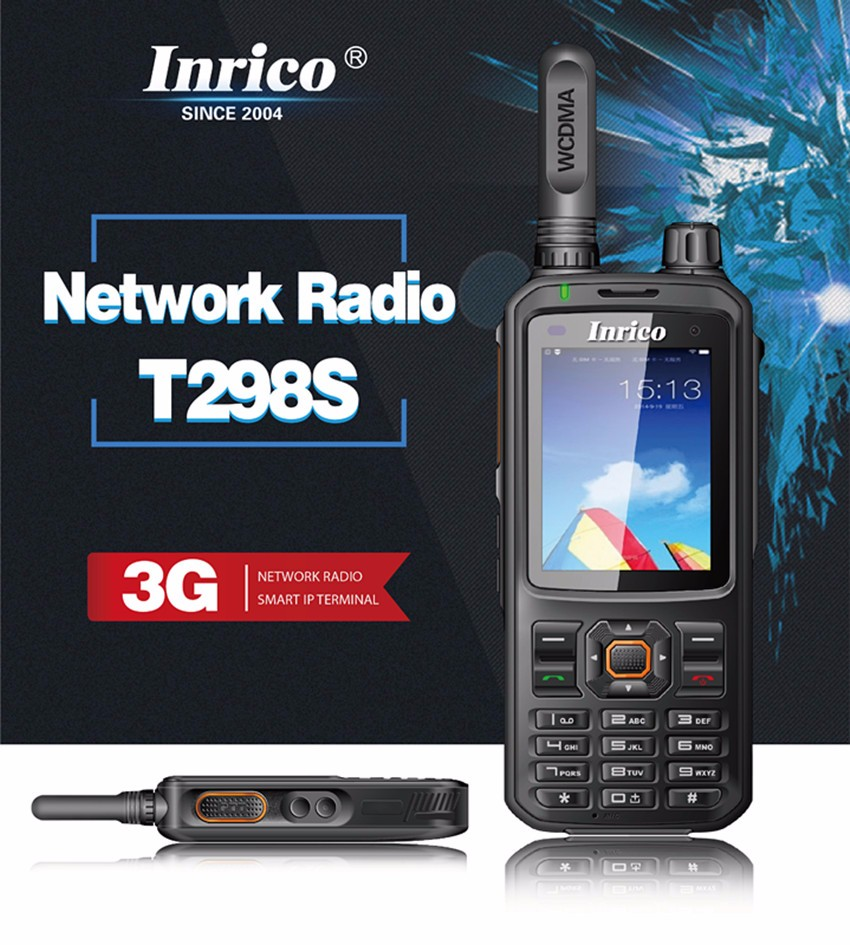 3G WCDMA Network Wifi Network POC Radio PMR Frequency Range Two Way Radio T298s with Colorful LCD Display
