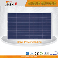 Widely use professional made high efficiency 260w polycrystalline solar modules