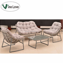 Simple KD packing popular new model garden wicker furniture outdoor sofa