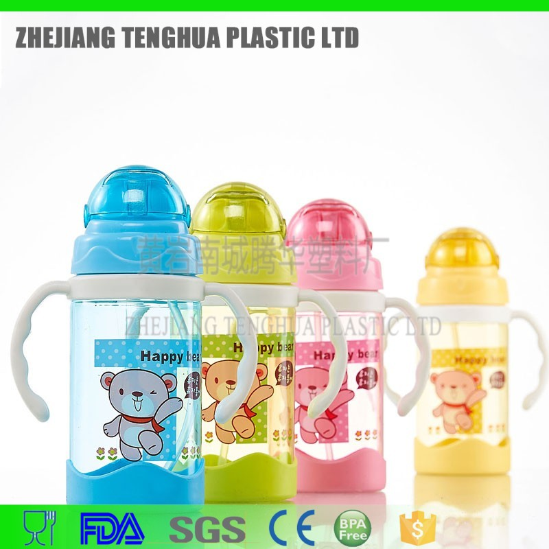 bpa free shaker bottle with handle baby bottle shaker plastic bottle with straw