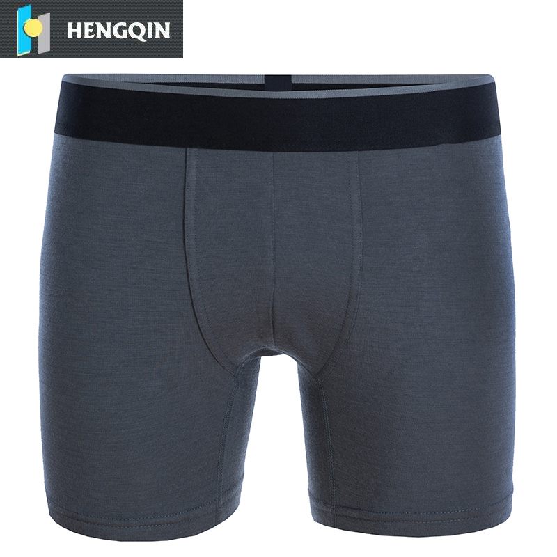 high quality merino wool silver fiber men underwear shorts anti-bacterial anti-odor boxer briefs