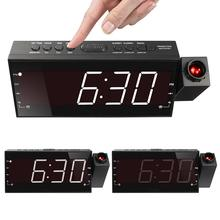 2019 top sale led light digital projection alarm clock 7.5inch quartz digital led wall clock