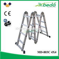 easy store multipurpose step folding aluminum best sell aluminum attic ladders (MD-803C 4x4)