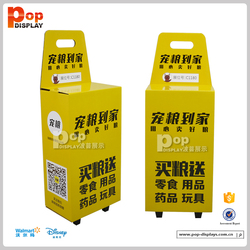foldable paper trolley with wheels/ cardboard trolley box