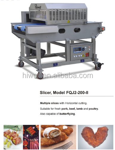 Horizontal meat filleting machine