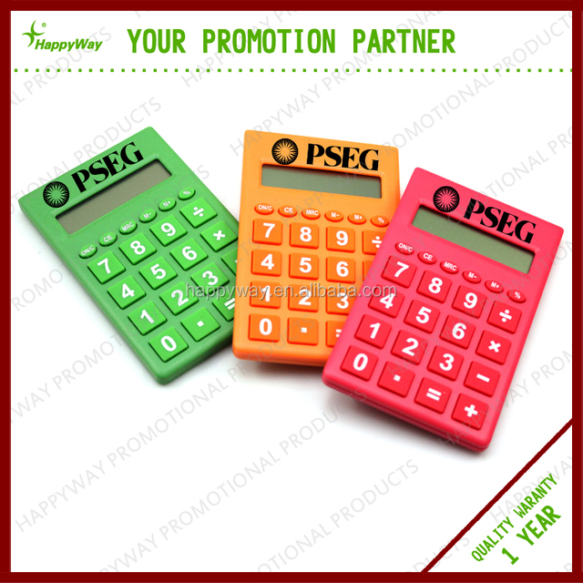 Shiny Colorful Big Screen Calculator, MOQ 100 PCS 0702023 One Year Quality Warranty