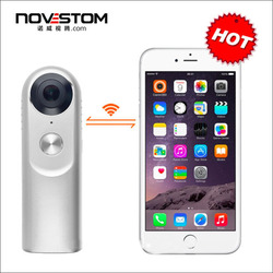 Novestom 2018 Full HD 360 VR Panoramic video Camera with Shenzhen sports portable dvr IP CCTV camera body