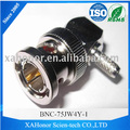75ohm BNC male Right Angle Crimp rf coaxial connector