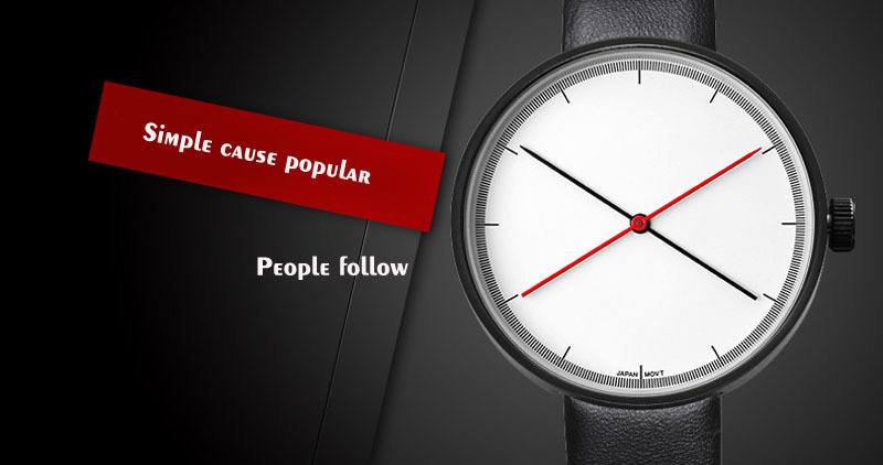 Simple personality Fashion Korean student watch