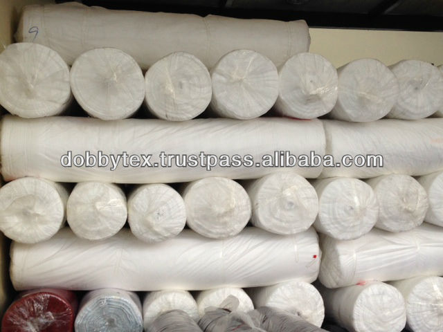White Cotton 100% Plain Fabric