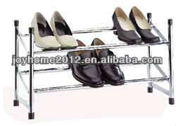 Chrome Stackable & Expandable Shoe Rack-2 Tier