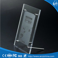 High quality clear acrylic frameless picture frame with screw