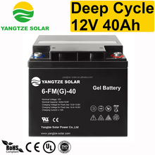 Yangtze deep cycle exide gel battery 12v 40ah