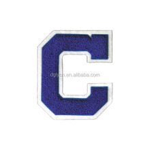 Custom design low cost sew on towlling embroidery chenille letters