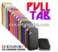 Wholesale - Colorful Pull Up Rope Slim PU Leather Case Pouch Bag Case Cover for Samsung S5