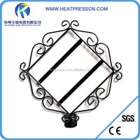 Strong Iron tile frame with key hooks for sublimation