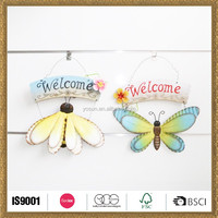 hand-painted imported metal insects spring hangs